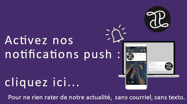 Inscription aux notifications push
